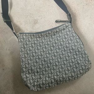 Authentic Christian Dior canvas Trotter bag